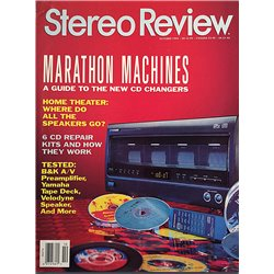 Stereo Review 1994 No. October Home theater: where do all the speakers go? Magazine