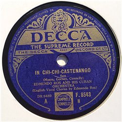 Ros Edmundo and his Cuban Orchestra : In chi-chi-castenango / Rum and limonada - shellac 78 rpm record