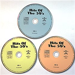 Various Artists 1951-89 Hits Of The 50'S 3cd CD no sleeve